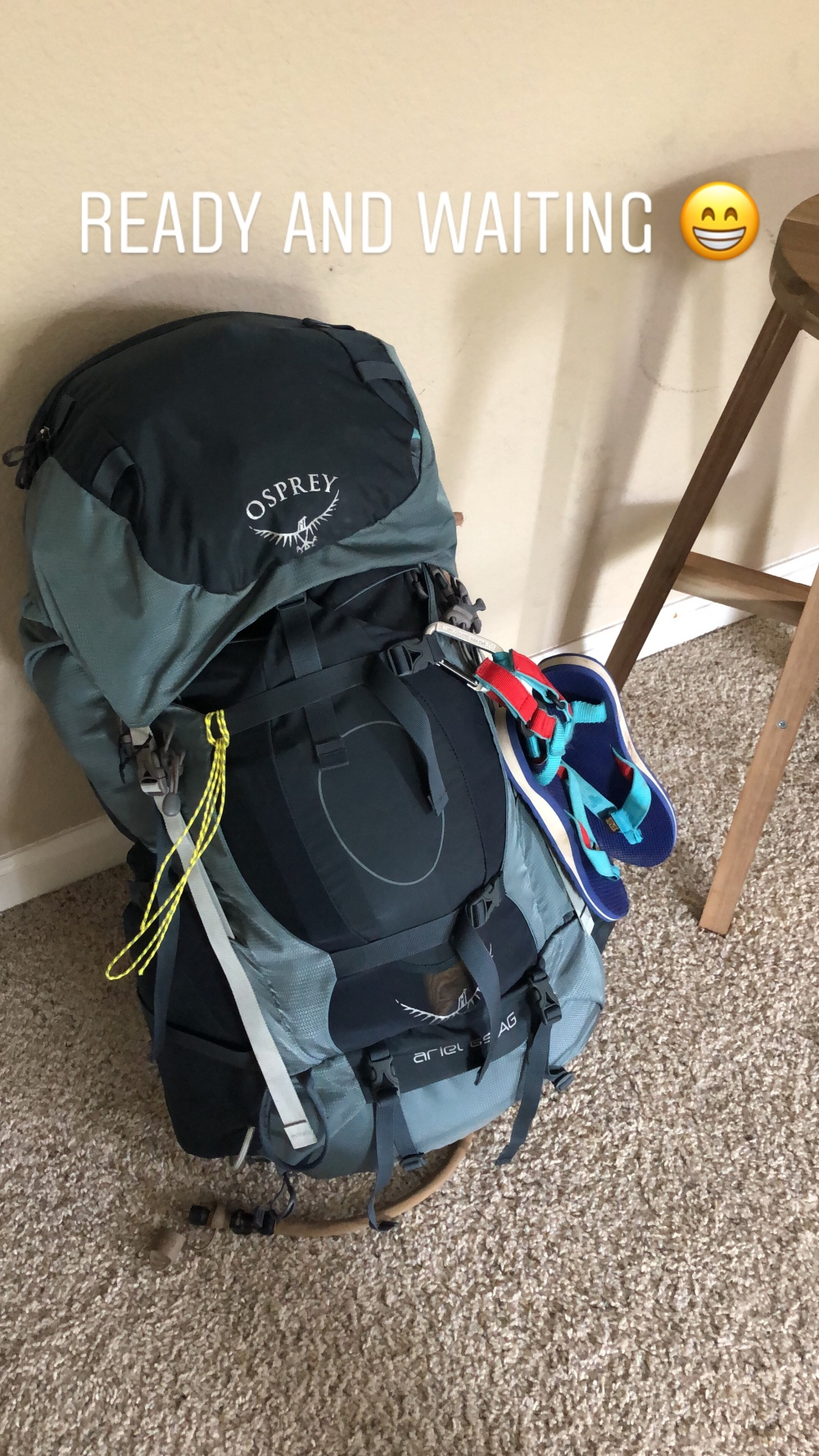 Ready and Waiting backpack